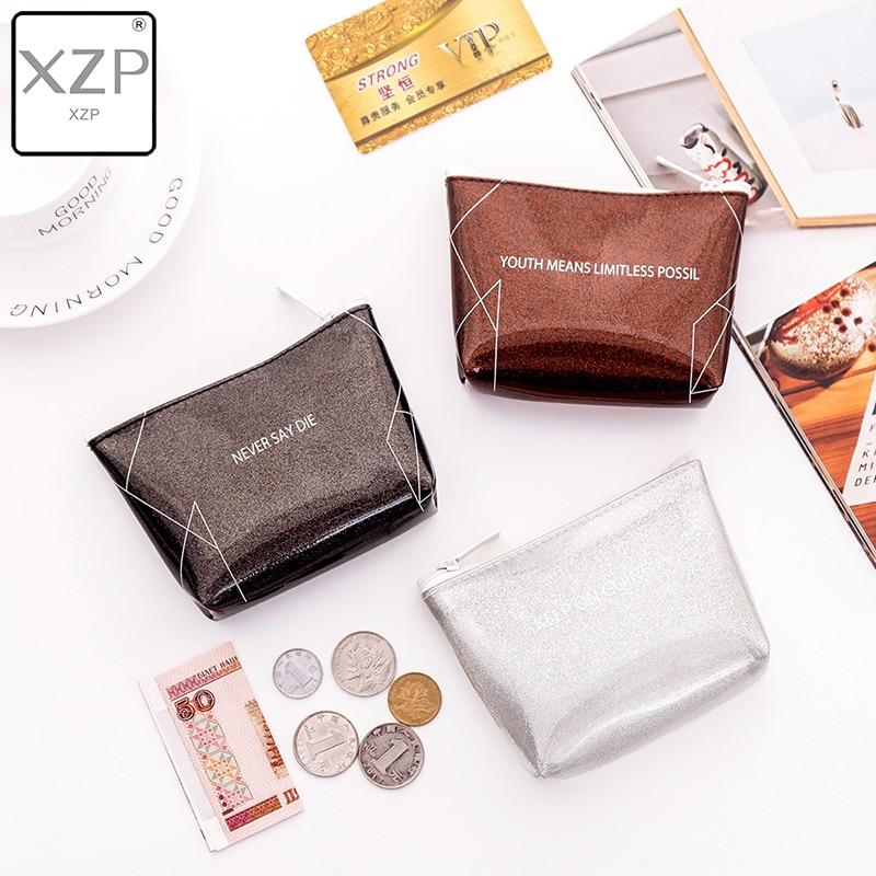 XZP 2019 Women Men Lady Kids Coin Purses Wallet PVC Lady Small Mini Coin Pouch Zipper Money Key Earphone Line Coin Holder Purse