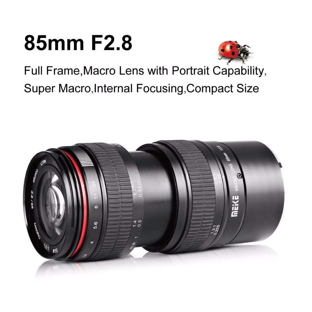 Meike 85mm f2.8 Full Frame 1.5:1 Macro Lens for Sony e mount A6000 ...