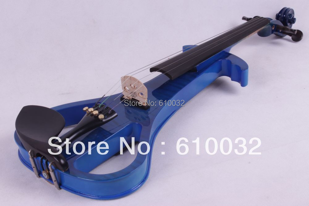 4/4 Electric Violin Solid wood 3-11# blue     color 4   string 4 4 high quality 5 string electric violin yellow 2 pickup violin