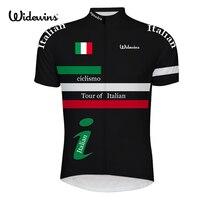 Italië professionele fiets kleding Tour van Italië wielertruien/2017 ciclismo korte mouw nationale vlag fiets jersey 6519