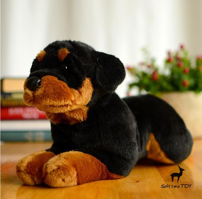 Stuffed Big Toy Animal Simulation Rottweiler Doll Plush Dogs Children'S Toy Pillow Gifts fancytrader simulation dog toy plush soft stuffed large animal shar pei dogs doll for kids gifts