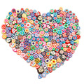 100pcs/lot DIY kid Jewelry Findings Multisize Bohemia Polymer Clay Beads Mix Color And Mix Design Bracelet Accessory Fimo Slices
