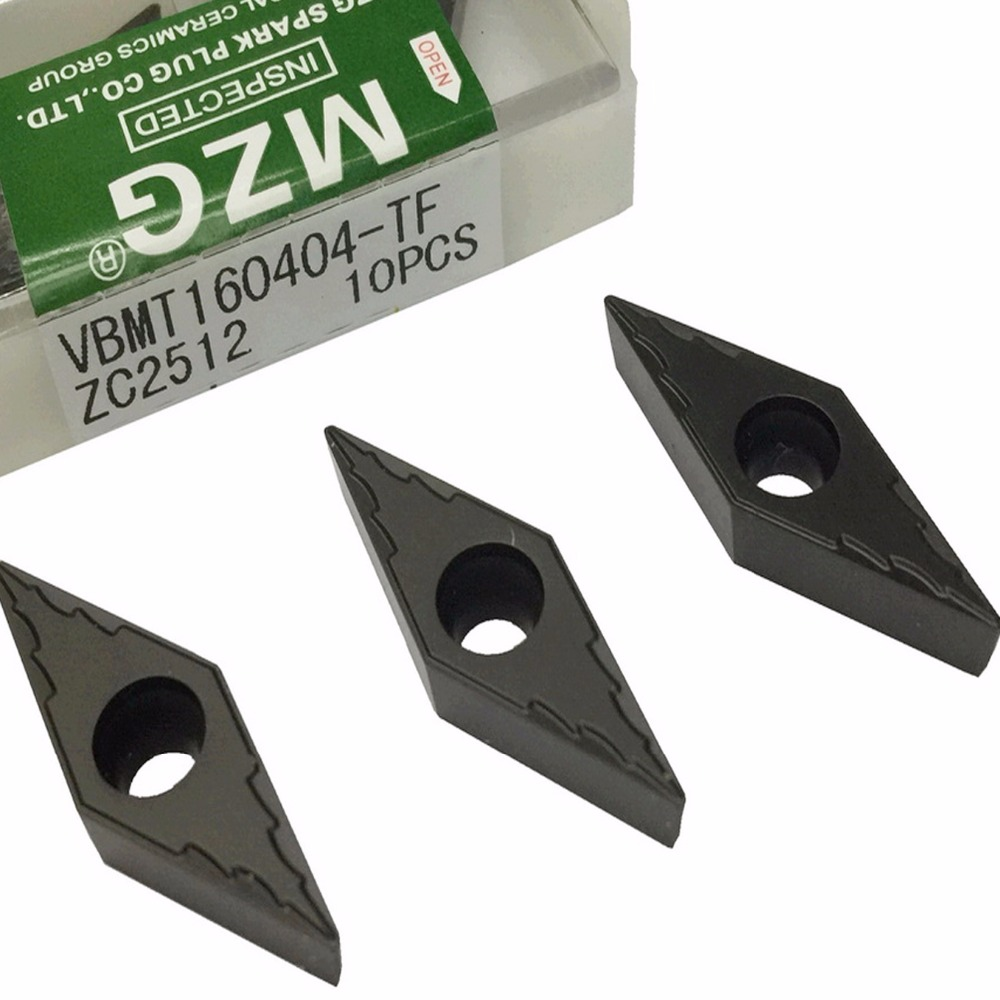 MZG VBMT160404 TF ZC2512 Cutting CNC Lathe Turning Boring Solid Carbide Inserts for Steel Processing SVXB