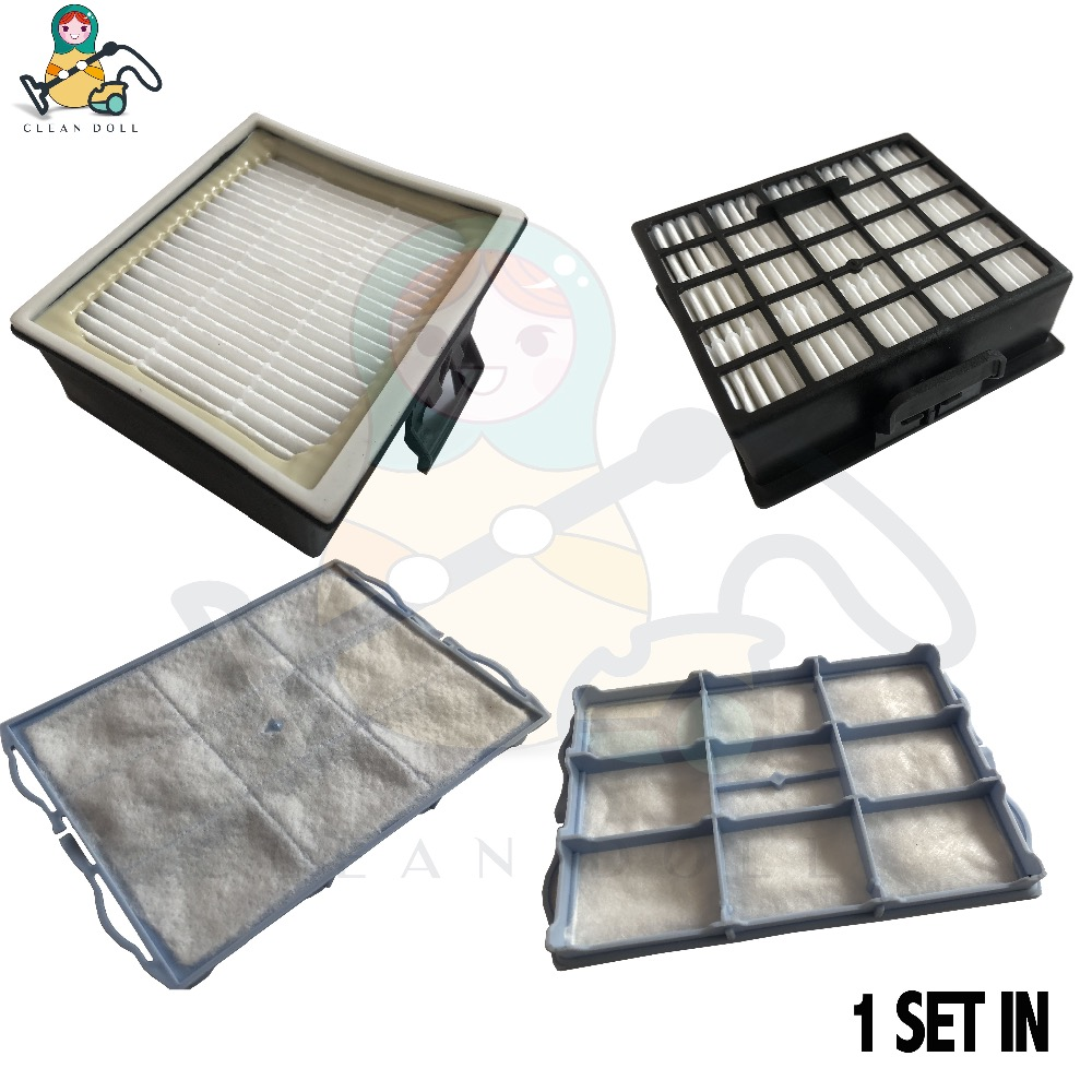 CLEAN  DOLL 2X Air Filter 2X  Post Filter HEPA For Bosch GL30 GL40 BSG6  Vacuum Cleaner Filter Parts