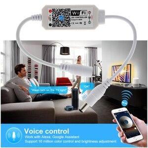 Image 3 - Magic Home Mini contrôleurs wi fi sans fil, pour bande lumineuse LED, intensité variable, DC5 28V, LED couleur simple, 2835, 5050, 5630