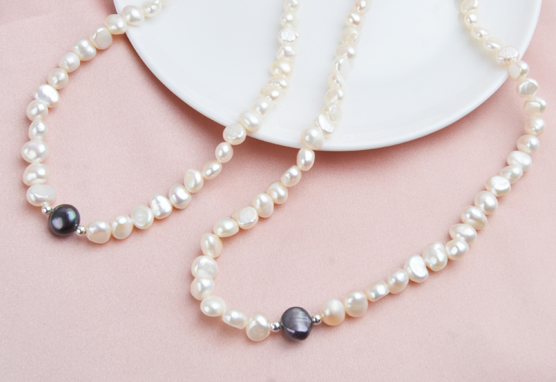 HTB1UKmaMhTpK1RjSZFKq6y2wXXaf ASHIQI Real Freshwater Pearl Jewelry set for Women with Pure 925 Sterling Silver Beads Handmade Necklace Bracelet Bridal Gift