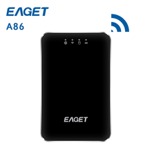 Original EAGET A86 1TB Wirless WiFi USB 3.0 High-Speed External Hard Disk Drives HDD 3G Router 3000mA Polymer Mobile power Bank