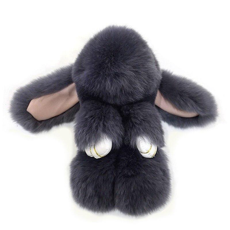 Fluffy Real Dovşan Kürk Pompon Bunny AnahtarlıkTrinket Qadın - Moda zərgərlik - Fotoqrafiya 3