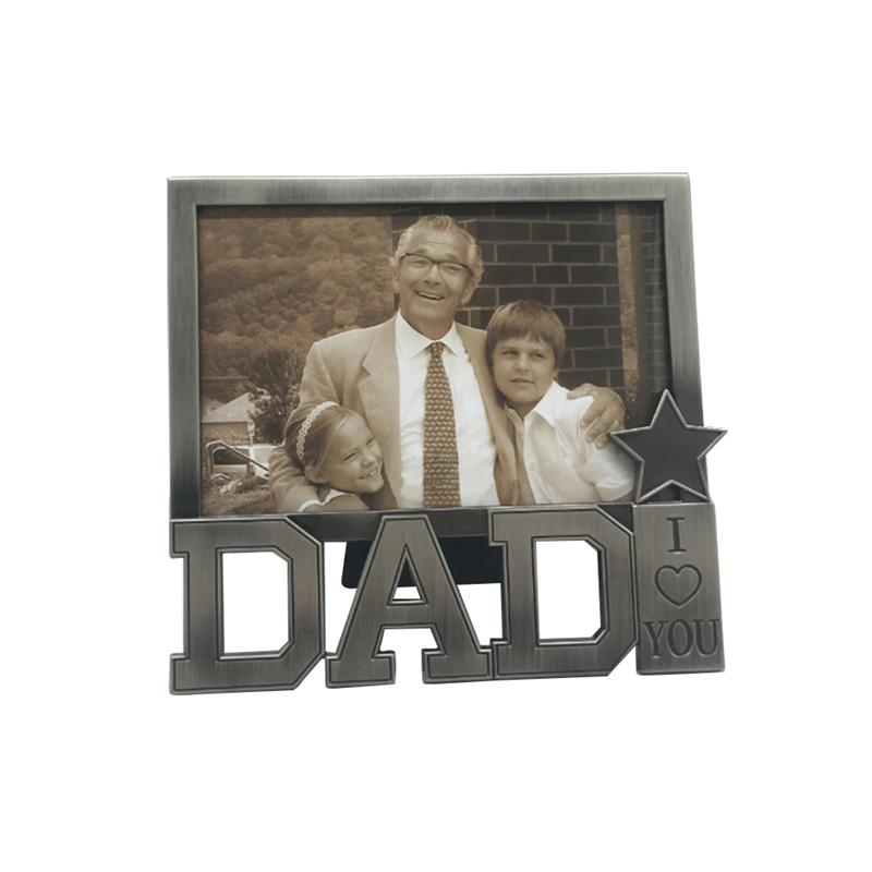 I Love You Dad Classic Design Picture Frames Sweet Gift Photo Frame for Father Day/Birthday Gifts