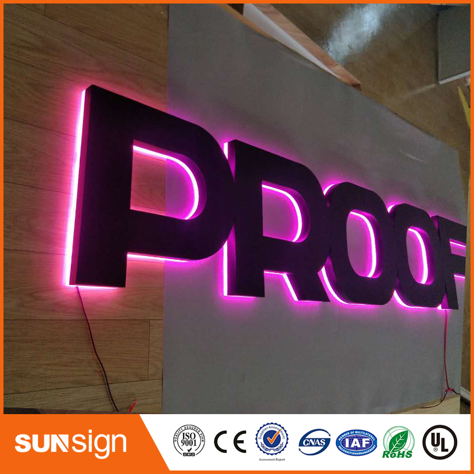 Outdoor Stainless Steel Backlit Letters And Signs