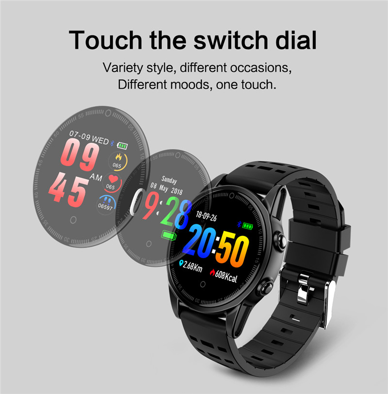 Smart watch fitness waterproof for Android IOS Dial