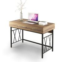 120CM Writing Desk Office Desk Workstation Table for Home Office Study Room Computer Desk with Drawer 47