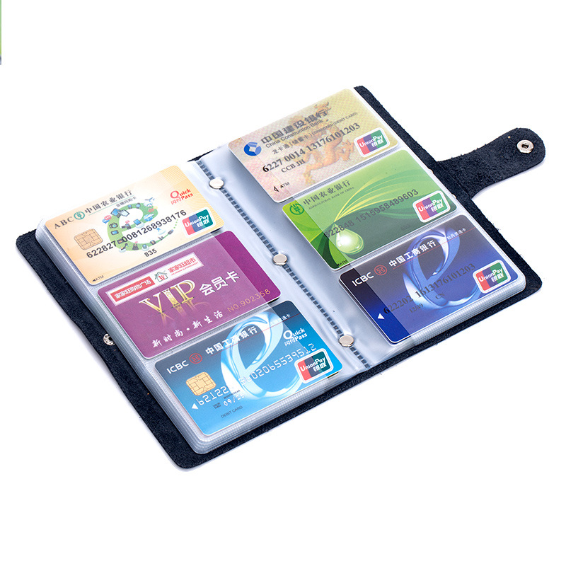 Wholesale New Women / Men Double Hasp Credit Card Holder Large Capacity Retro ID Business Case By 90 Slot