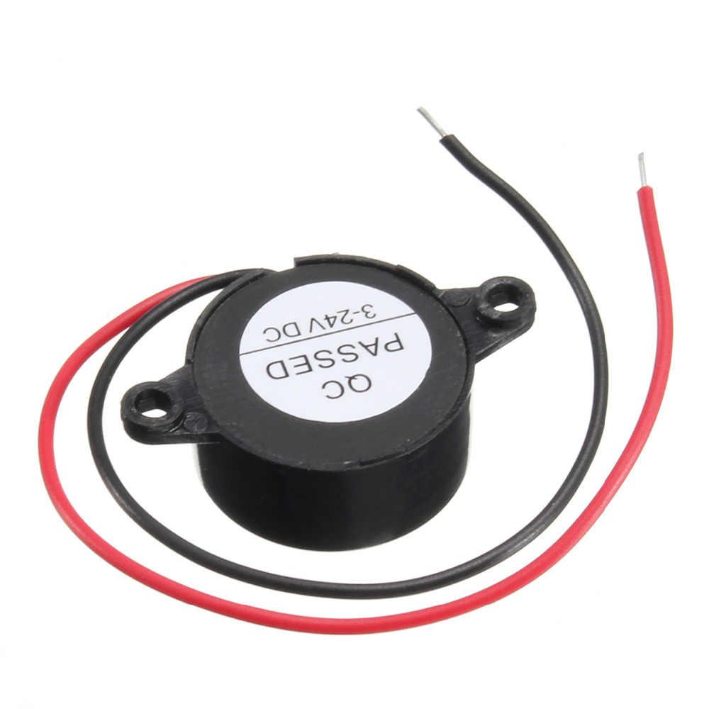 Liplasting Araba 95DB Alarmı DC 3-24 V Elektronik Buzzer Sürekli Bip Siyah Piezo Piezoelektrik Ses Beeper Ev