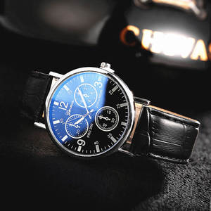 Hot Selling gift men's watch fashion WOMEN'S watch Blueray glass leather belt MEN'S watch factory wholesale