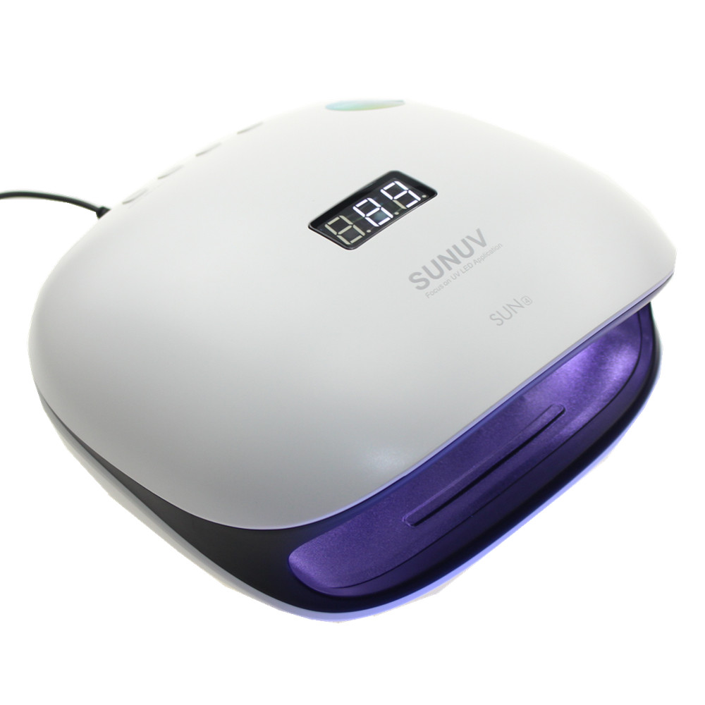 Sun4 UV LED Lamp 48W Nail Dryer With Sensor Nail Lamp for Gel Nails Polish Memory Timer LCD Display and Double-Speed Curing led lamp nail dryer 48w pro led ccfl nail art timer dryer sensor uv lamp gel polish curing manicure pedicure with timers 48w
