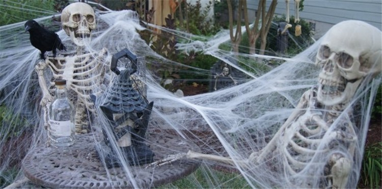 2015 halloween scary party scene props white stretchy cobweb spider web horror halloween decoration for bar haunted house on aliexpresscom alibaba group