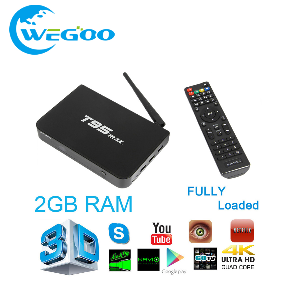 ФОТО [Genuine] T95max Metal Case 2GB/ 32GB T95 max Amlogic S905 Quad Core Andorid 5.1 TV BOX 2.4G/5GHz Dual WiFi BT4.0 TV installed