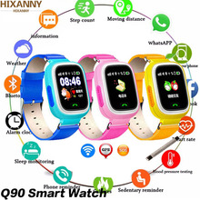 цена Q90 GPS Child Smart Watch Phone Position Children Watch 1.22 inch Color Touch Screen WIFI SOS Smart Baby Watch Q50 q80 q60 Watch онлайн в 2017 году