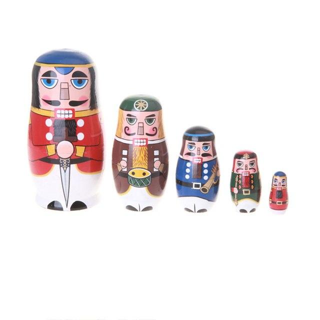5pcs Set Miles Kimball Nutcracker Solders Matryoshka Nesting Dolls