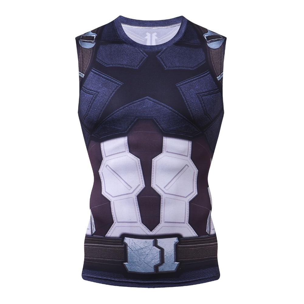 New 3D Captain America Bodybuilding G yms Tank Top Men Marvel Anime Vest  Fitness Clothing Sportswear Muscle Tank ops