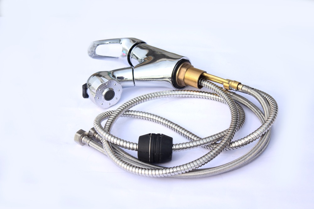 Pull out Water Saving Faucet Shower Head and Hose Kit for RV Trailers Hand Held Shower