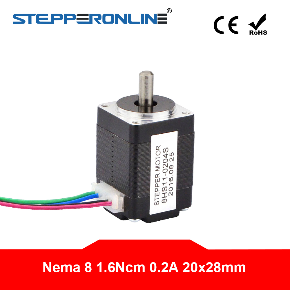 20BYGH NEMA 8 1.8 Deg 20mm 2-Phase 4-Wire Hybrid Stepper Motor Robot 3D Printer