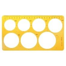 K Смола Круглый геометрический Шаблон Линейка трафарет рисунок измерительный инструмент студентов