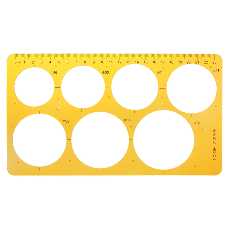K Resin Round Geometric Template Ruler Stencil Drawing Measuring Tool Students
