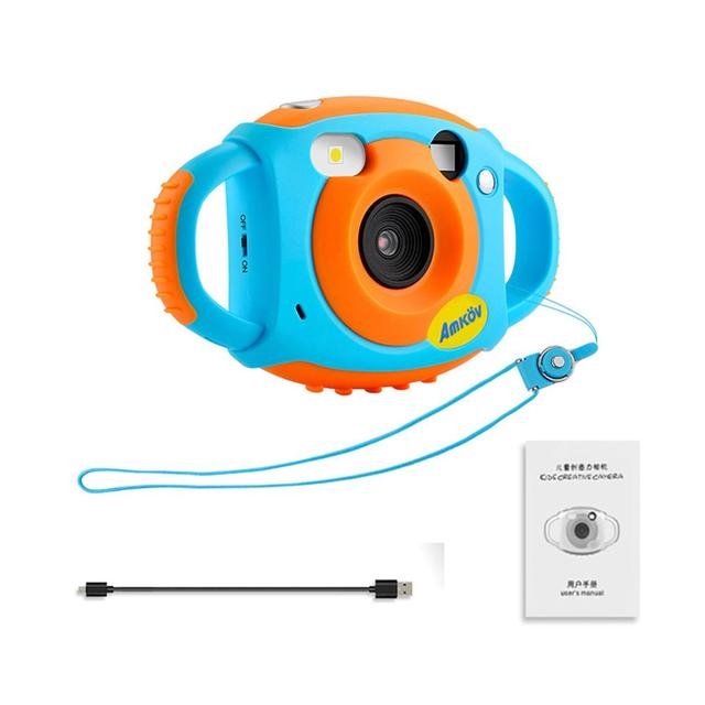AMKOV Mini Children Innovative Camera 1.77 Inch HD Color Screen 5MP Self-Portrait Mirror Design Long life Creativity Neck Camera