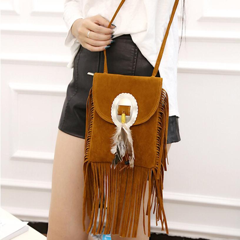 Женская Мода из замши и кожи, украшенные бахромой перо сумка Для женщин Однотонная одежда молния сумки небольшой вечерние сумка # F