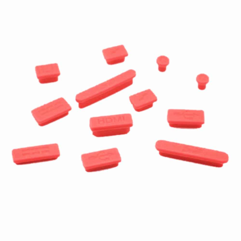 """Bouchon Anti-poussière en Silicone souple coloré pour Macbook Air 13 """"11"""" Retina Ports ordinateur portable en caoutchouc Anti-poussière bouchon couvercle Anti-poussière 12 pièces"""
