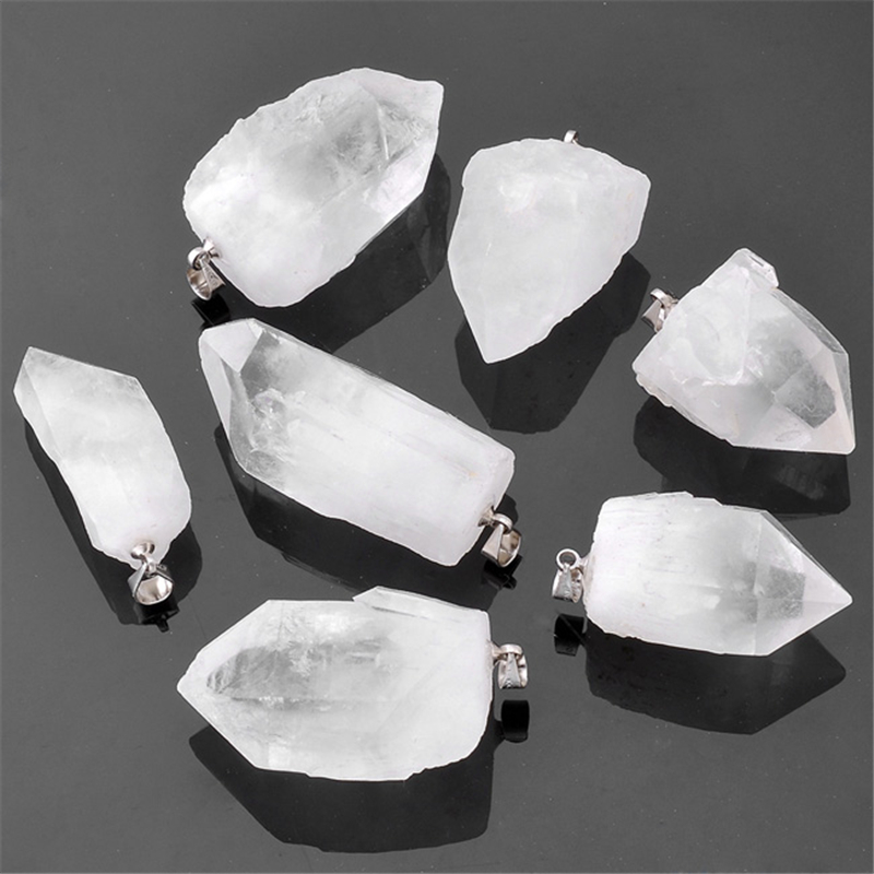 Ayliss Hot 1pc Irregular Stone Rock Crystal Quartz Natural Lapis Lazuli Gem Stone Circle Pendant Necklace Gifts Pendant Jewelry