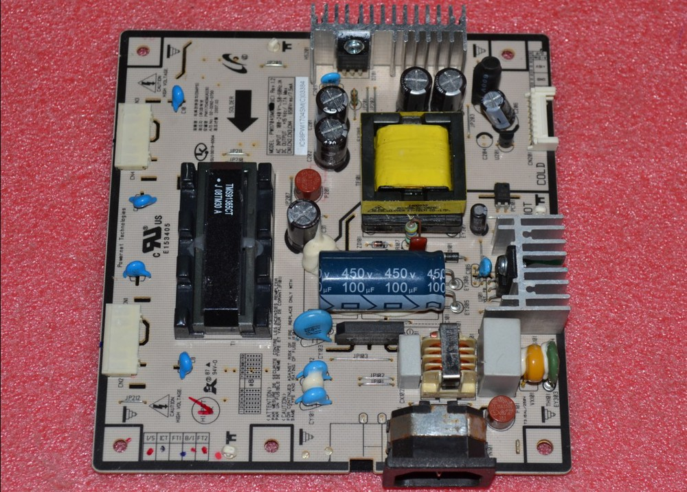 Free Shipping>  940UX power board PWI1704SM (B) pressure plate has a single 15V Voltage-Original 100% Tested Working free shipping e152fp power board 715l1063 1 ver b e152f pressure plate original 100% tested working