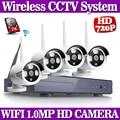 4CH IR HD Home Security Wifi Wireless IP Camera System 720P CCTV SET 3G WIFI Outdoor HD NVR Surveillance cctv Kit 1TB HDD