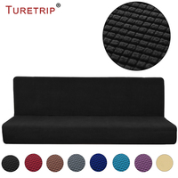 Turetrip Armless Sofa Cover Stretch Sofa Bed Slipcover Protector Non Slip Settee Folding Couch Sofa Shield Funda Futon Covers