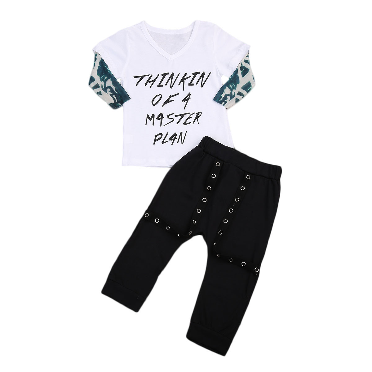 2018 Thinkin Cool Letters Boy Newborn Infant Baby T-shirt Tops+Pants Leggings Outfit Set