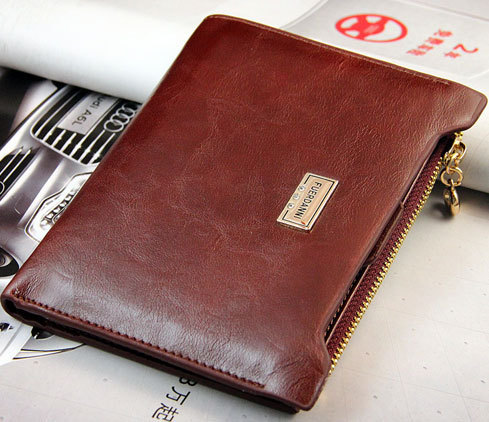 1pcs 2015 With Zipper Coin Wallets Faux Leather Bifold Famous brand Design Wallet Women & Men New Fashion Slim Bag Mix Color
