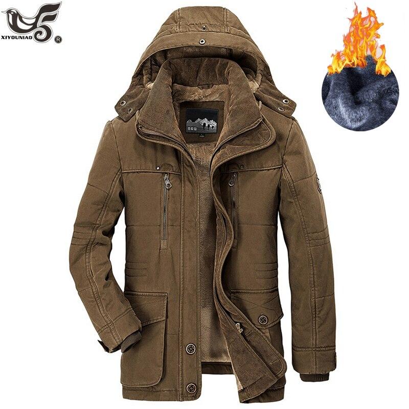 Marque hiver veste hommes taille 5XL 6XL chaud épais coupe-vent haute qualité polaire coton-rembourré Parkas militaire pardessus vêtements - 6