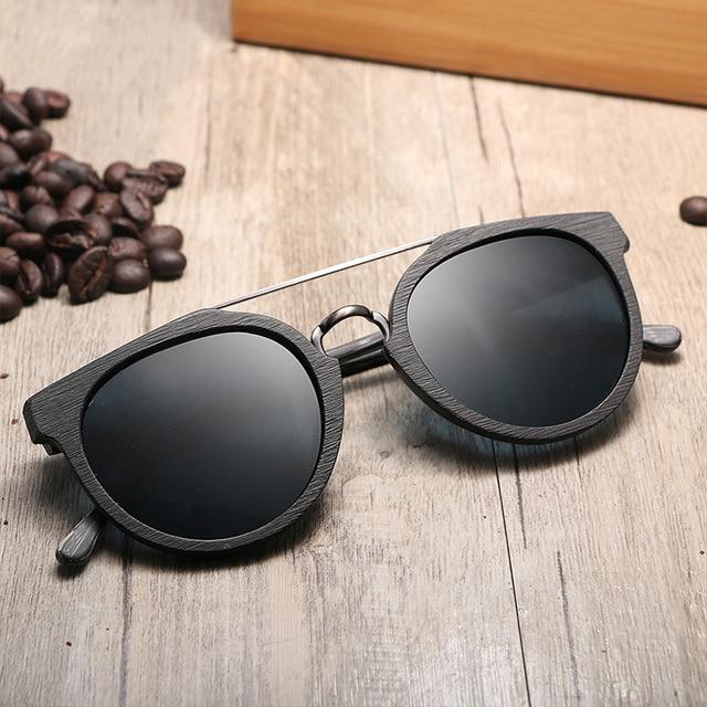 Gafas de son unisex madera modelo clásico filtro UV400 3