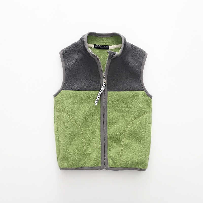 טלאי אופנה וסטים בנים ילדים בנות vest אביב חזיית אפוד צמר ילד תינוק מעיל לילדה autumn2018 בגדי ילדים