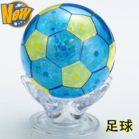 Candice guo! New arrival hot sale 3D crystal puzzle Football World Cup souvenirs model funny game creative gift 1pc