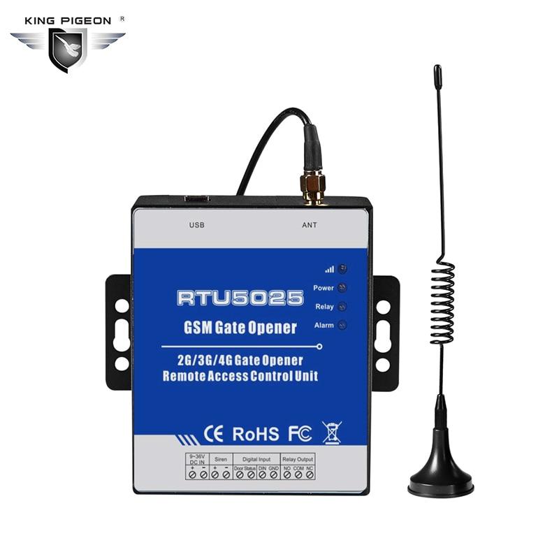 Sistema de seguridad para el hogar RTU5025 interruptor de relé de apertura de puerta deslizante Control de acceso remoto mediante llamada telefónica gratuita