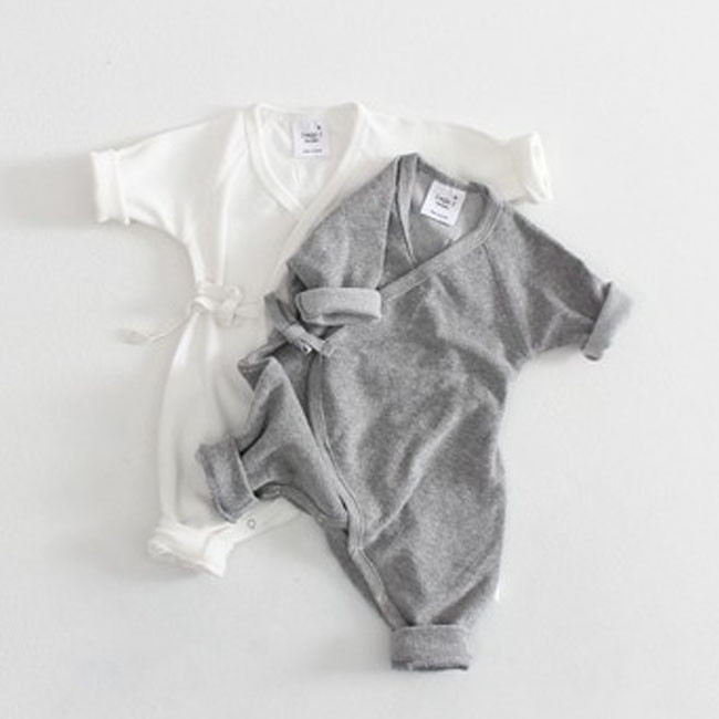 0-24M Newborn Infant Baby Boy Girl Clothes Solid Color Back Wing Little Angel   Romper   Jumpsuit Playsuit Clothing