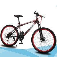 Berg Fahrrad 26 Zoll 21 Geschwindigkeit Stoßdämpfer Doppel Disc Bremse Student Bike Colofull