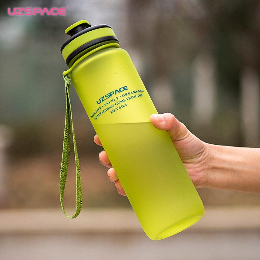 Capacidad de Agua Potable De Plástico Deporte Botella de Agua 2017 Ml Uzspace1000 Portátil Taza Botella De Bebida Eco-friendly Tritan (bpa Libre)