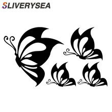 4pcs / lot Butterfly Car Stickers and Decals Stylish Vinyl Motorcycle Car styling Auto Truck Decoration Universal #B1422 continental sport contact 5 225 35 r18 87w