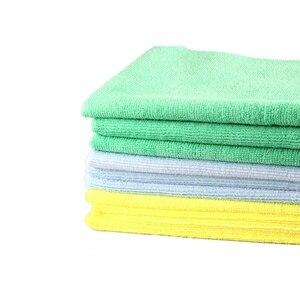 Image 4 - 1 sztuk nowy ręcznik z mikrofibry Auto Detailing 40x40cm 300GSM Ultra miękki ręcznik bez krawędzi idealny do myjnia samochodowa do pielęgnacji lakieru akcesoria