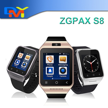 ZGPAX S8 Smartphone Bluetooth Smart Uhr android 4.4 MTK6572 Dual Core 1,5 Zoll GPS 2.0MP Kamera WCDMA WIFI MP3 MP4 Smartwatch