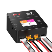 iSDT D2 200W 20A AC Dual Channel Output Smart Battery Balance Lipo Charger For RC Multicopter Models Li po Battery